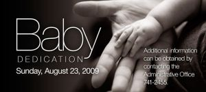 Baby Dedication Ad by cgitech