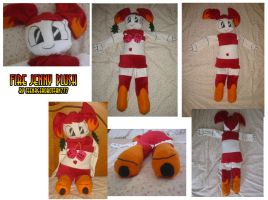 Fire Jenny plush by teenagerobotfan777