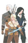 The Witcher 3 Geralt, Ciri and Yennefer by WibbitGuy
