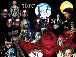 Tim Burton Collage by AnaMoon