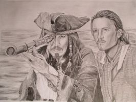 Jack Sparrow and Will Turner by tofu0004