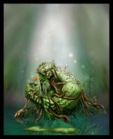 A MONSTER PORTRAIT: SWAMPTHING by rhiver