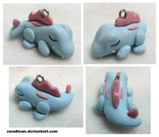 Sleeping Totodile by Swadloon