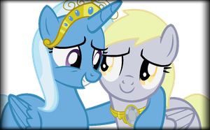 Lunaverse: Trixie and Derpy by chibinekogirl102
