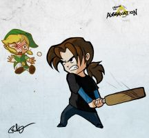 Clobbering Link by lord-phillock