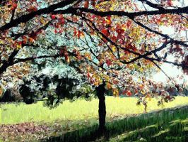 Autumn In The Park by Nigel-Hirst