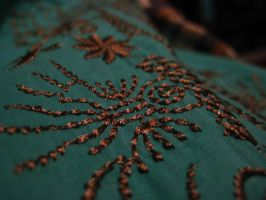 Embroidered Teal Blouse by Roxyielle