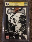 Ghost Rider CGC Graded Sketch Cover by ChrisMcJunkin