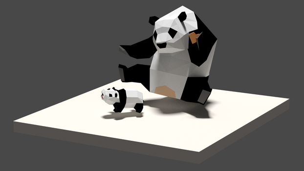 Low Poly Panda by victortienyu