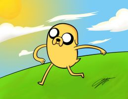 Jake The Dog by amsuherdi1111