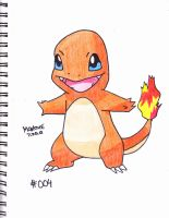 #004 charmander by Yami-The-Orca