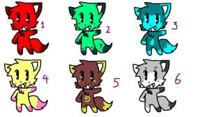 Classic Foxes Adoptables (CLOSED) by FunkyDreamer