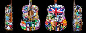 Beatles Painted Guitar by paulbabe