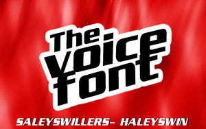 +The Voice Font by SaleySwillers