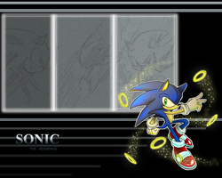 Sonic wallapaper by Faezza