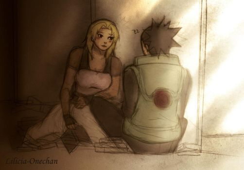 -Old Library- .ShikaTema Sketch by Lilicia-Onechan