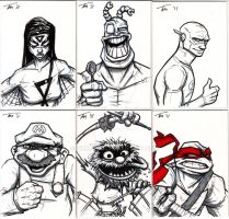 More Sketch Cards by timmayer