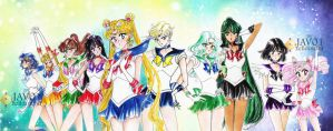sailor moon  - inner and outer senshi by zelldinchit