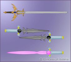 Nick/Specialist Weapons Batch One by Princess-of-Asteria