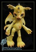 Singe the Dragon in yellow by TheMushroomPeddler