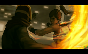 Korra vs Chiblocker by dCTb
