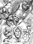 Angel vs. Sentinel page 1 (pencil) by D-KenSama78