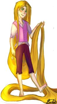 Male! Rapunzel by ThatRandomGurl