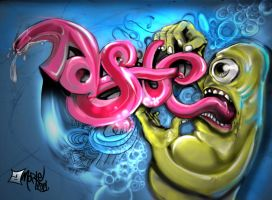 TASTE Graffiti Sketch by aMorle