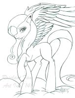 Fluttershy Line Art by ElectricPoodle
