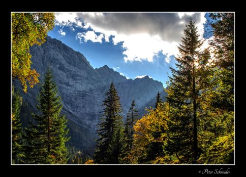 A shine below clouds. by Phototubby