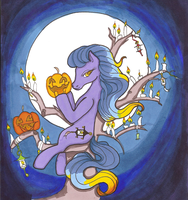Candleine in her Tree by Bumblesweet