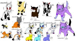Leftover adopts 1-OPEN by Shadowpaw909