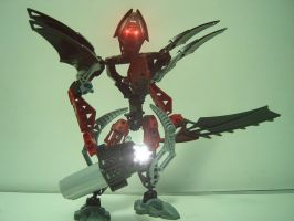 Old MOC: Red Makuta by ToaBastignika7