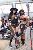 Cait and Nidalee by Chromulee