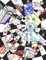 Falling into Wonderland by MikiClover