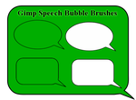 Gimp Speech Bubble Brushes by Geosammy