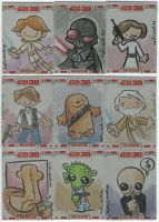 TOPPS Star Wars cards, pt. 8 by katiecandraw