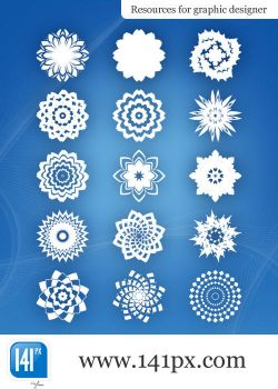 Package of 15 abstract flowers by 141px-com