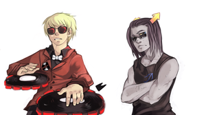 Pchat - Dave and  Equius by qunariz