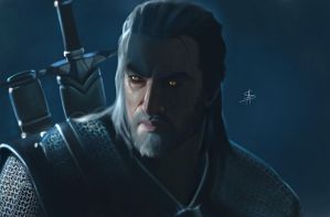 Geralt Di Rivia - The Witcher 3 Wild Hunt by TheSig86