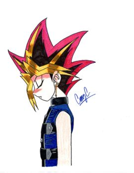 Colored Vamp Yugi bowing by xMystery21x