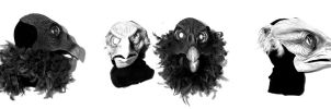 Bird Masks by Bigclownshoes