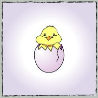 -:- easter chick by notrightyet