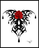 Gothic Rose Tattoo Print V2 by Quicksilverfury