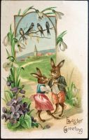 Young Easter Bunny Couple by Yesterdays-Paper