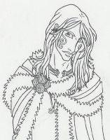 Celtic Boy in Fur by KidaGreenleaf