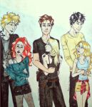 Little girls and their (my) big boys. by Linaia