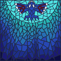 Stained Glass - Kyogre by pokeboi