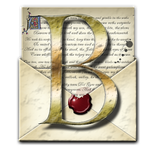 Steampunk B Open Envelope Icon by yereverluvinuncleber