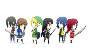Mini chibi: Fighters by momijigirl